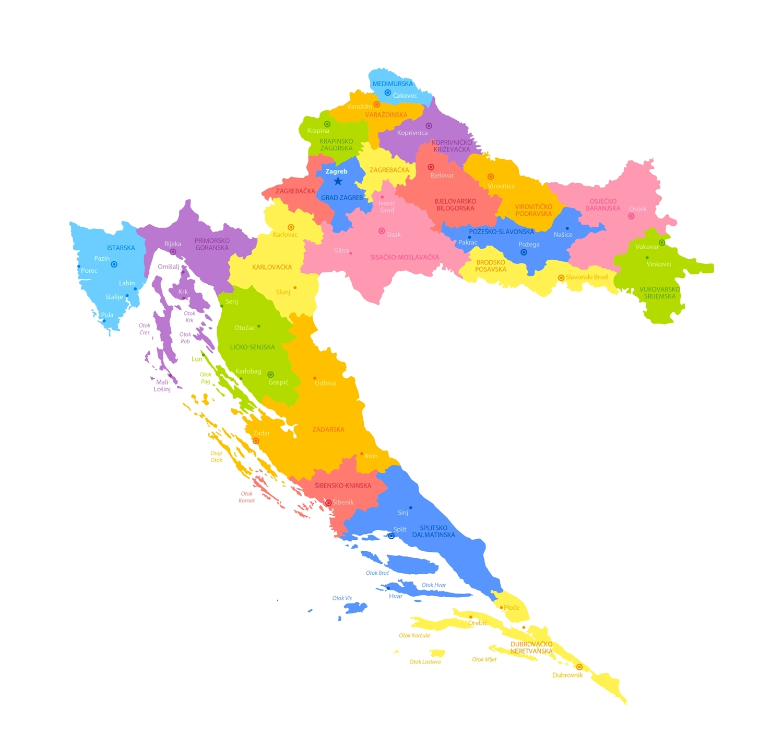 Mapa Chorvatska #Cestování