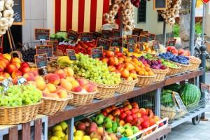 Ovocná tržnice v Chorvatsku